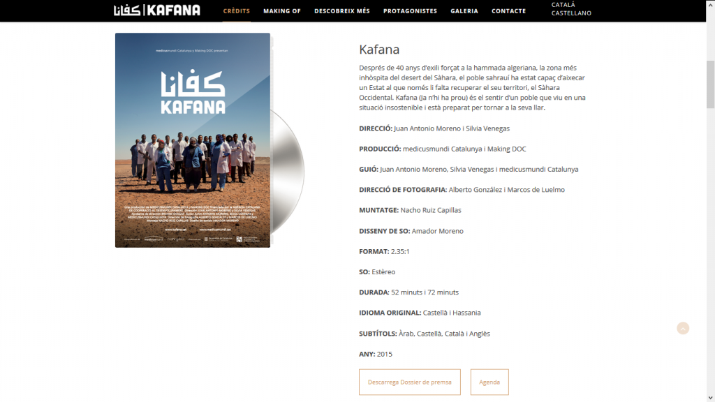 Ficha web Kafana